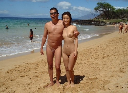 Nudist couple activities